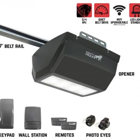 Mighty Mule MM9333H – 3/4 HPe Smart Garage Door Opener